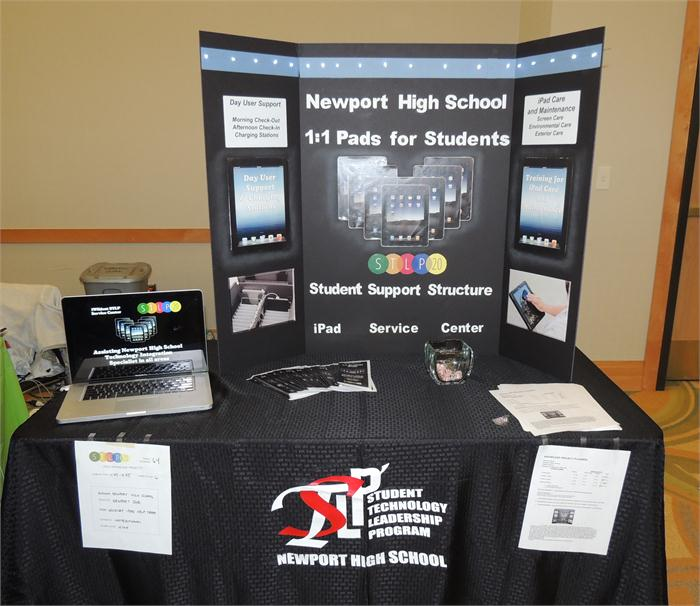 One of the two showcases for the high school.
