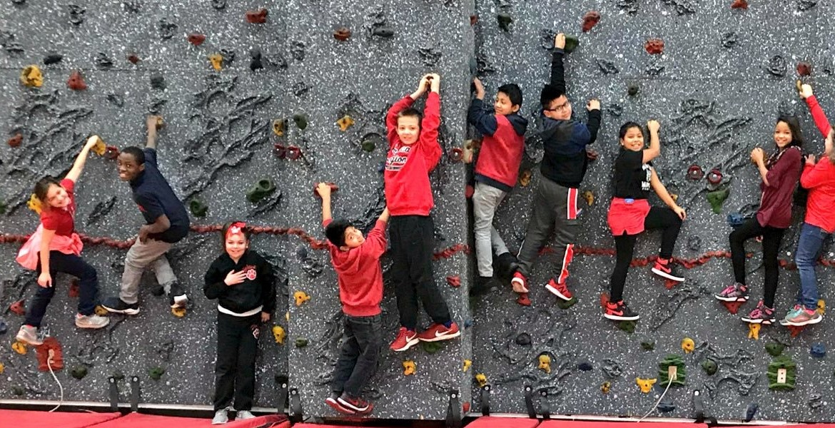 Students love climbing!