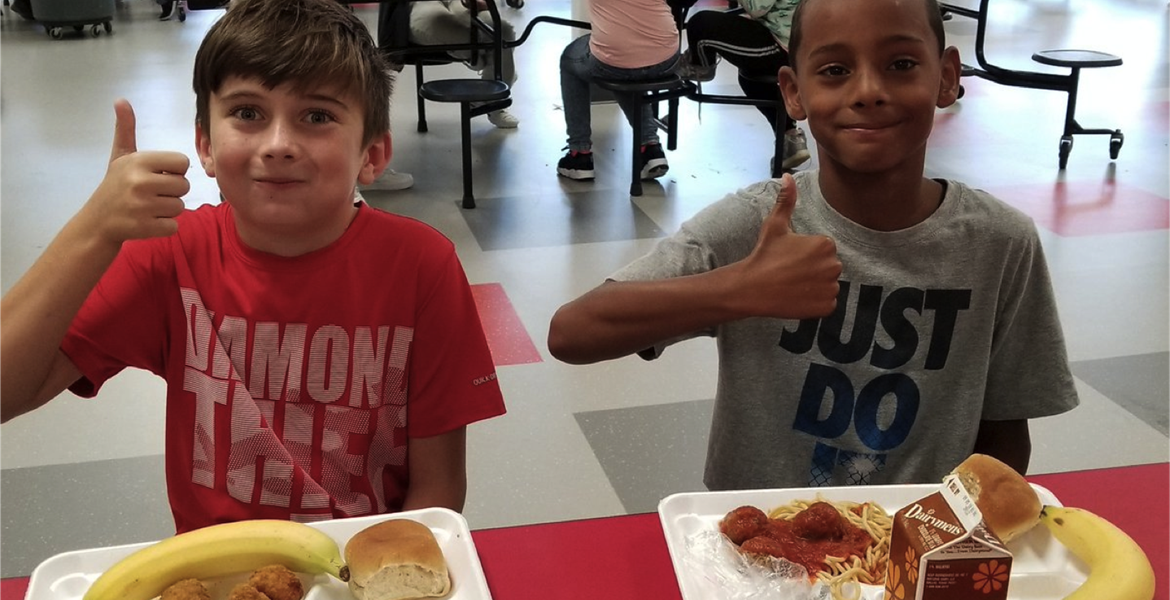 NIS students are loving the new lunch choices!