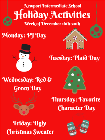 Newport Intermediate Holiday Activities