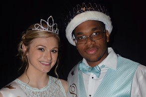Hailey Mueller and Marcel Garland, Prom Queen and King