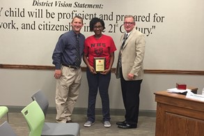Jalyn Collier received the Governor's Scholar Award