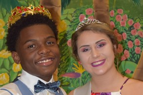 2017-18 Homecoming King and Queen William Beamon and Caralyne Wallace