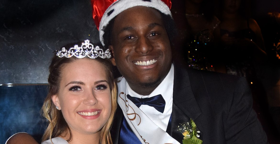 Prom King Jesiah Yewitt with Prom Queen Abby Livingood
